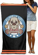 Zcfhike Pump It Up Pug Quick-Drying Pool Beach