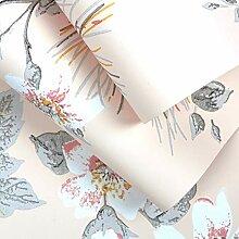 ZCHENG Blume und Vogel Blumen leichte Luxus Tapete