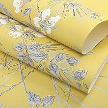 ZCHENG Blume und Vogel Blumen Licht Luxus Tapete