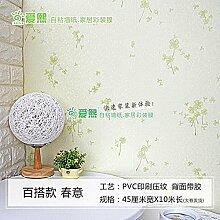ZCHENG Einfache PVC-Tapeten Tapete Self Adhesive