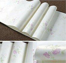 ZCHENG Papiertapete 3D pastoralen Blumen Tapete