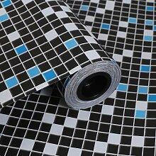 ZCHENG PVC Mosaik selbstklebende Tapete für