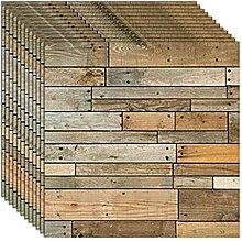 ZCHENG Rustikale Vintage 3D Faux Holz Wandpaneele