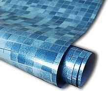 ZCHENG Wasserdichte Badezimmer Tapete PVC Mosaik