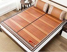 ZCJB Bambusmatte 1,8 m Bett Falten doppelseitig