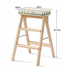 ZCJB Treppenhocker 3 Stufen Hocker Klapp 3 Tier