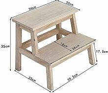 ZCJB Treppenhocker All Solid Wood Haushalt Schritt