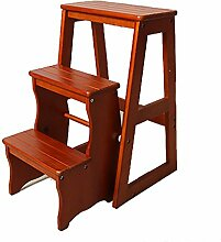 ZCJB Treppenhocker Holz Stufenhocker Folding 3