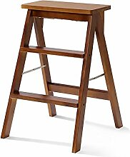 ZCJB Treppenhocker Wood Step Hocker Klapp 3 Tier