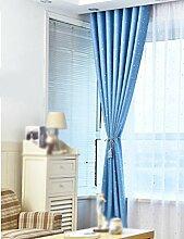ZCJB Vorhänge Hot Silver Star Schlafzimmer Sonnenschutz Blackout Vorhang One Piece ( Farbe : B , größe : W200cm*H270cm )