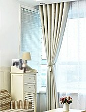 ZCJB Vorhänge Pastorale Heiße Silberne Stern-Schlafzimmer-Wohnzimmer-Sonnenschutz-Schatten-Tuch-Bucht-Fenster Nach Maß Vorhang-Endprodukt ( Farbe : A , größe : W350cm*H270cm )