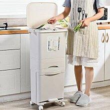 ZCME-power Küchen Mülleimer mit Deckel,Mit