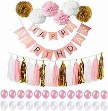Zcoins Geburtstag Party-Dekoration, Banner Happy