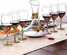 ZCXBHD 5-teiliges nordisches Weinglas-Dekanter-Set