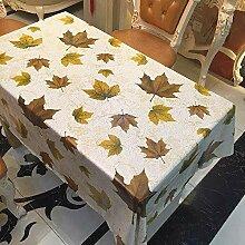 ZCXCC Tischdecke Verwelkte Gelbe Blätter