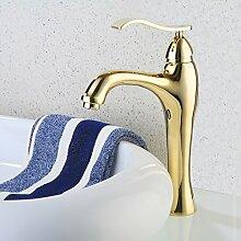 ZCYJL Waschtischmischer Sanitär vergoldetes