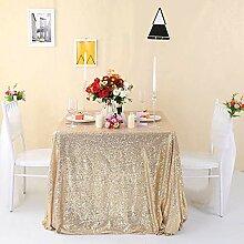 Zdada Hochzeit Pailletten-Tischdecke Sparkly