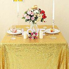 Zdada Pailletten Tischdecke Gold Sparkly