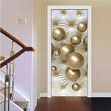 ZDDBD Stereoskopische goldene Kugel Wohnzimmer