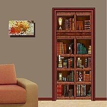 ZDDBD Tapete Bücherregal Wandbild Wohnzimmer