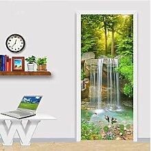 ZDDBD Wasserfall 3D Landschaft Tür Aufkleber
