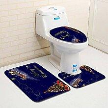 ZDDT Toilette dreiteilige Bodenmatte Fußmatte Bad