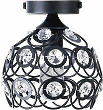 Zdhlfyx Schmiedeeiserne Crystal Korridor Lampe, Kleine Deckenleuchte, Flur, Korridor, Eingang, Bad, Balkon, Deckenleuchte