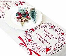 Zdmathe Weihnachten Tischläufer Tischdecke