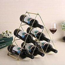 ZDNALS Weinregal aus Metall, Weinflaschenständer,