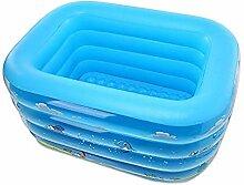 ZDY BOX Aufblasbarer Pool für Kinder von Blue