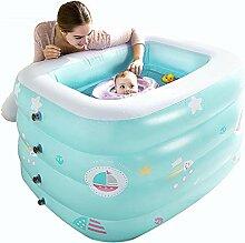 ZDYG Pool, Baby-Mehrschicht-aufblasbare Badewanne,