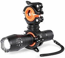 Zeadio LED-Taschenlampe, zoombar, 1000 Lumen,