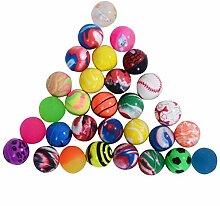 Zeagro 100 Stück Springbälle Hüpfball  