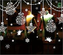 ZEARO Fensteraufkleber Weihnachten-Weihnachten