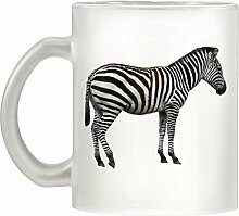 Zebra Bild Design Milchglas Becher