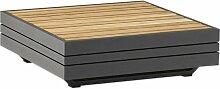 Zebra Cubo Loungetisch 74x74x22,5cm Aluminium/Teak