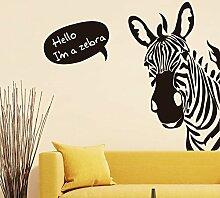 Zebra englischen Buchstaben Wand Aufkleber Home Aufkleber PVC Wandmalereien, Vinyl, Papier, House Dekoration Tapete Wohnzimmer Schlafzimmer Küche Kunst Bild DIY für Kinder Teen Senior Erwachsene Kinderzimmer Baby