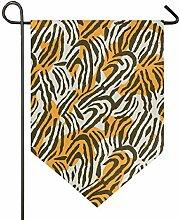 Zebra Leopard Anmail Textur Garten Flagge