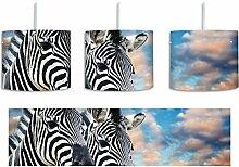 Zebra Pärchen inkl. Lampenfassung E27, Lampe mit