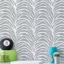 Zebra Streifen Muster Schablone Heim Dekoration & Basteln Schablone Malen Stempel für Schablonentechnik auf Wände Stoffe & Möbel wiederverwendbar 190 Mikron Schablone