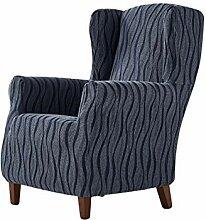 Zebra Textil Ohrensessel-husse, Blau, 1 Sitzer