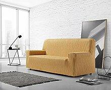 Zebra Textil Sofa, Gelb, 2 sitzer