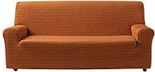 Zebra Textil Vega Elastische Sofa-Husse, Orange, 2