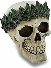 Zeckos Pot Leaf Stirnband, Menschlicher Schädel