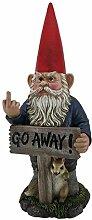 Zeckos Take a hike Go Away Garden Gnome un-welcome