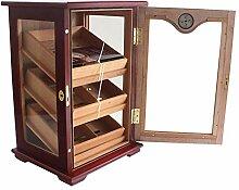 Zedernholz-Humidor mit Hygrometer,
