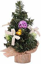 Zedo Mini-Weihnachtsbaum, Tischplatte, dekoriert,