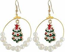 Zedo Weihnachtsbaum Ohrringe Frauen