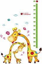 Zeichentrick Giraffe Messleiste für Kinderwachstum Entfernbar Wandtattoo Deko