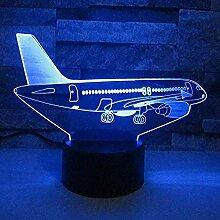 Zeichentrickfiguren Flugzeuge 3D Nachtlicht LED